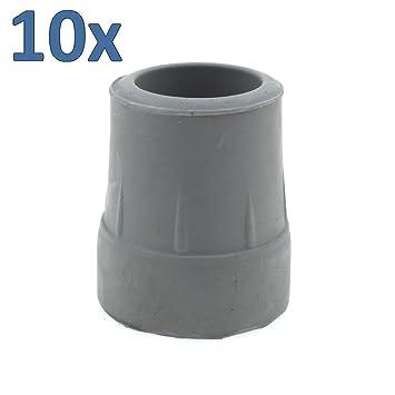 Cantidad 10x: 25mm Conteras De Goma De Alta Calidad Para Muletas Bastones Andadores - Por Lifeswonderful®