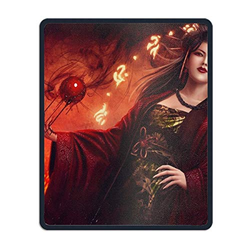 Fantasy Legend of The Five Rings Oriental Women Blood Rectangle Non-Slip Rubber Mousepad Custom Gaming Mouse ()