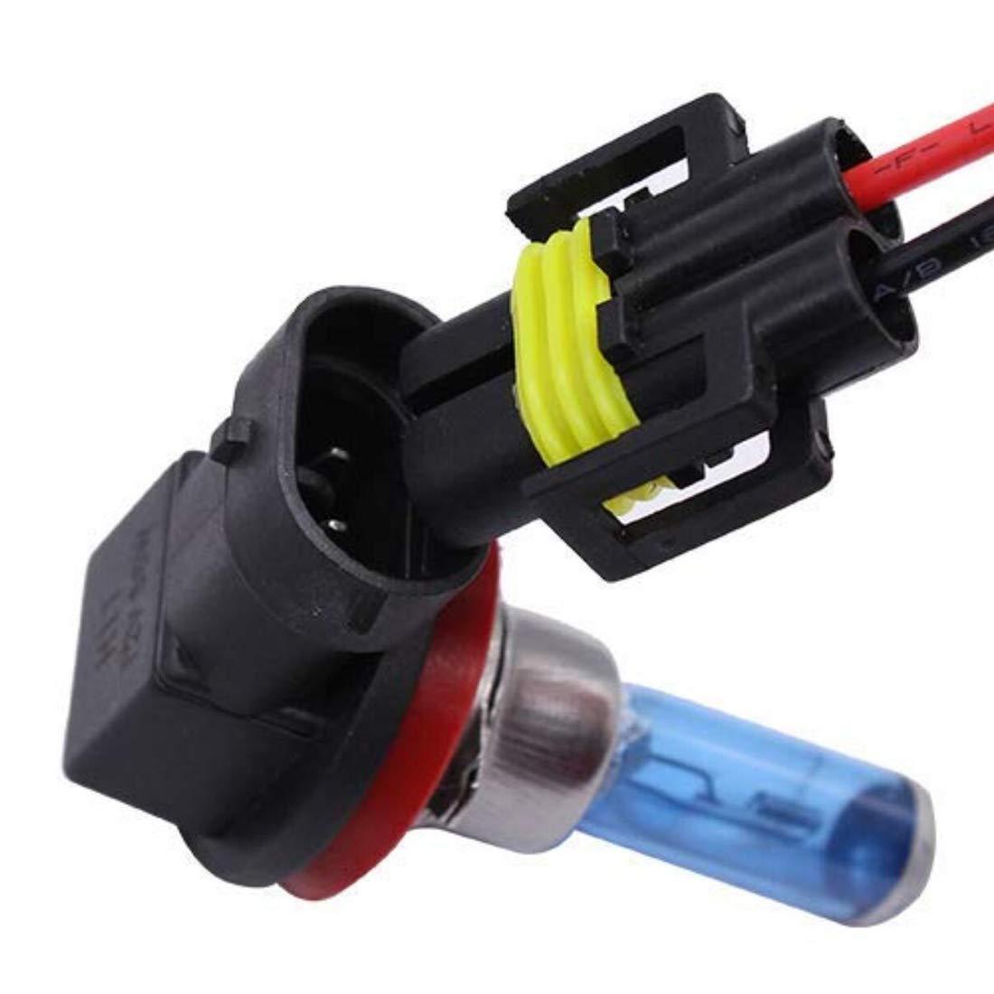 UTSAUTO H11 H8 880 881 Female Adapter Wiring Harness Sockets Wire 12V for Headlights Fog Lights 4pcs