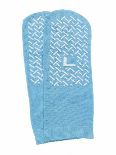 Medline Mdt211218lih Single-tread Slippers, Large, Blue