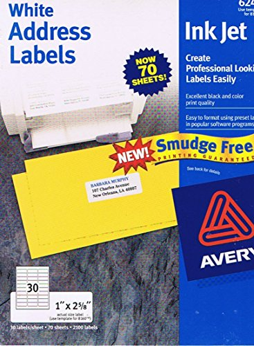 Avery: White Address Labels Ink Jet - 1