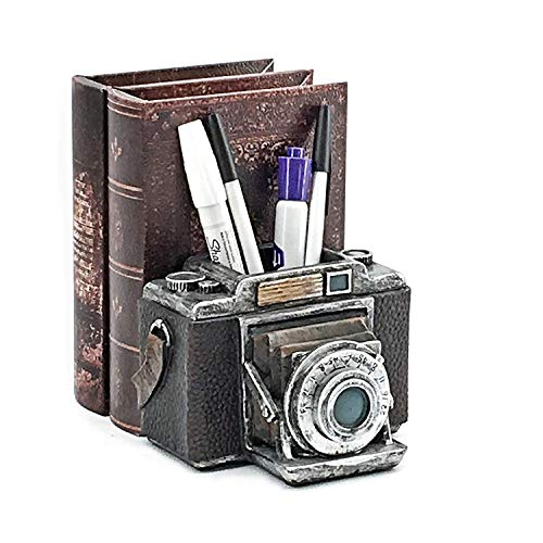Camera pen pencil book holder made with fine poly resin 6 inch