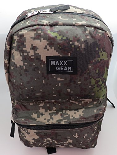Kids Maxx Gear 17 Inch Classic Lightweight Backpack Camouflage For Sale