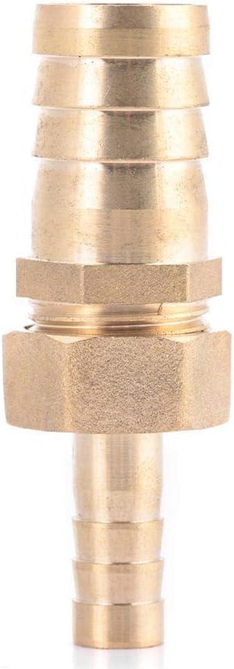 Broco Instalaci/ón de lat/ón for manguera cola Reductor La reducci/ón del conector enchufable 10mm-19mm