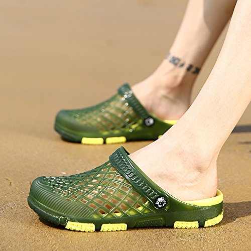 Hombres G Deslizadores Los Casuales Zapatos Green Hombres Sandalias De Playa Verano n7BII4