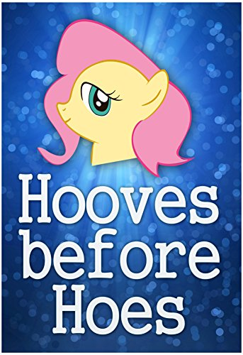 Hooves Before Hoes Brony Poster 13 x 19in with Poster (Hoes Costumes)