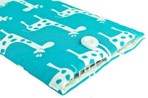 Kuzy - Aqua Blue Giraffe Sleeve Cover 13-Inch for MacBook Ppr 13-inch and MacBook Air 13-inch and White MacBook #30 ()