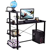 MyEasyShopping Desk Table Laptop Computer Workstation Home Office Pc Furniture Wood Corner L Study Shape Stand Adjustable Writing W Zeal