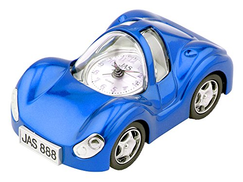Blue Car Table Clock Corvette Alarm