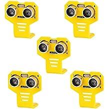 Seamuing 5pcs HC-SR04 Ultrasonic Module Distance Sensor Kits with 5pcs Yellow Cartoon Mounting Bracket for Servo Arduino UNO MEGA R3 Smart Car Robotics Projects
