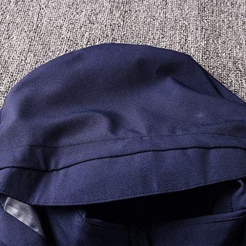 TD Windjacke Herren Sportswear Langarm Voll Zipper Hoodys Gymnastikraum Oberteil und Hose FY0060 (Size : M)