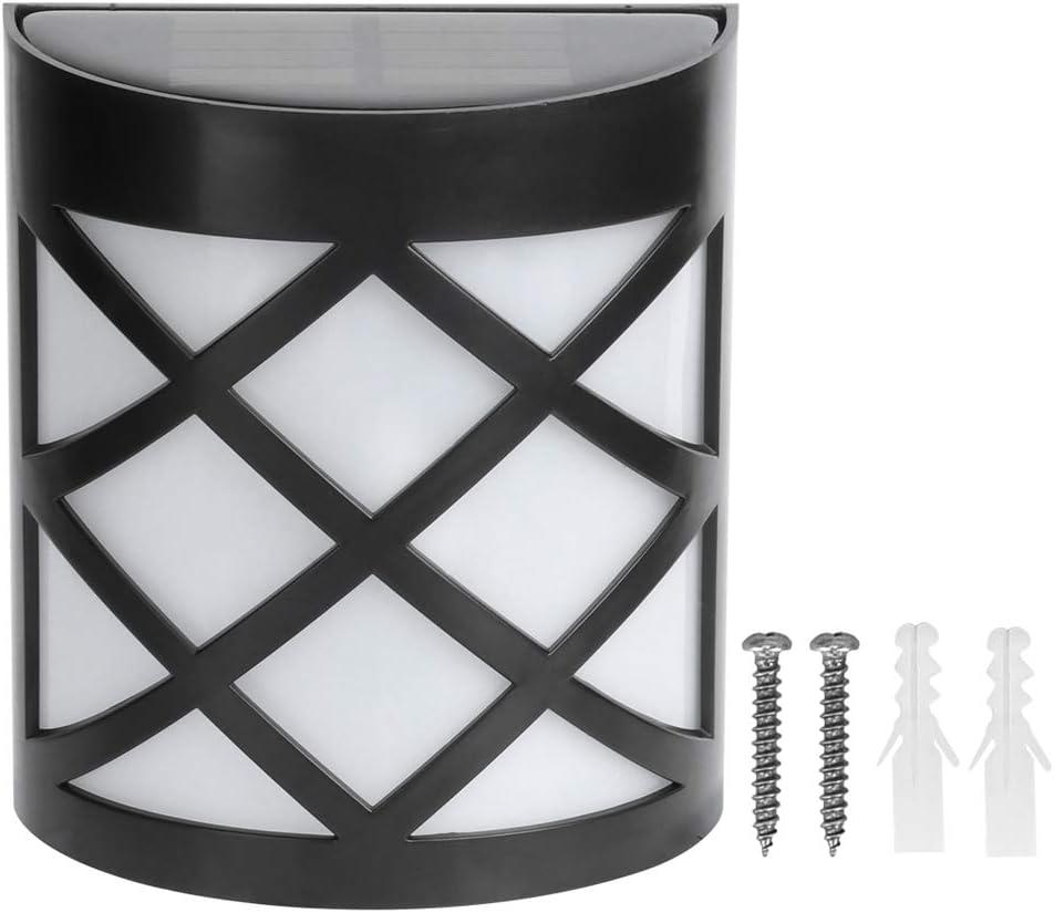 Lámpara de pared LED de energía solar, lámpara de aplique con sensor de movimiento automático de estilo retro con exterior IP55 impermeable, para jardín, patio, porche, patio, terraza(calentar)