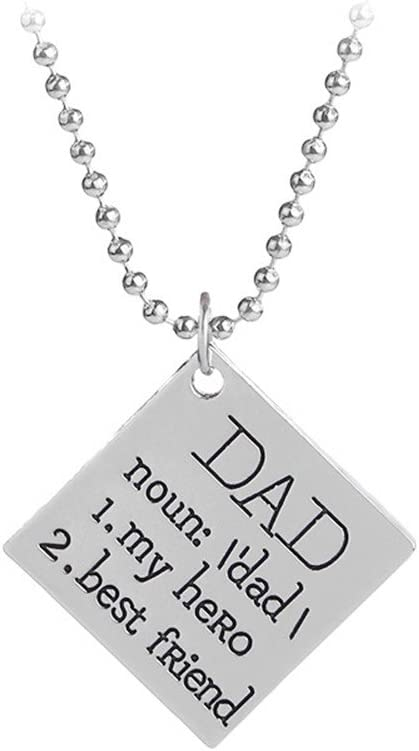 Best Gift for Son from Dad Father and Son Necklace You are my Hero