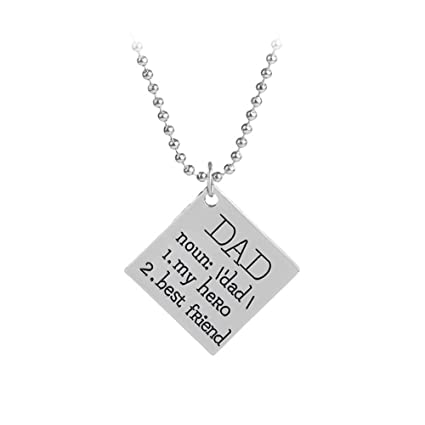 Fathers Day Gifts Dad My Hero Best Friend Pendant Necklace Birthday For