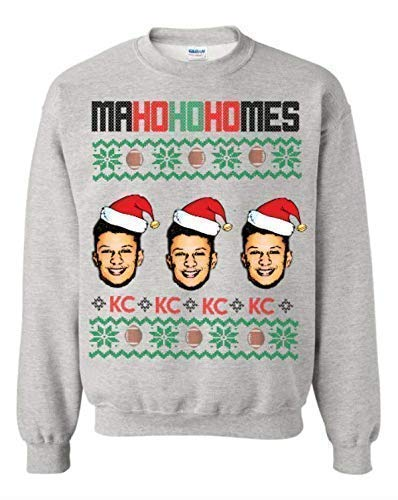 patrick mahomes kansas city chiefs sweater, tacky christmas sweater, funny christmas sweater, chiefs sweater for him, chiefs sweater for her ()