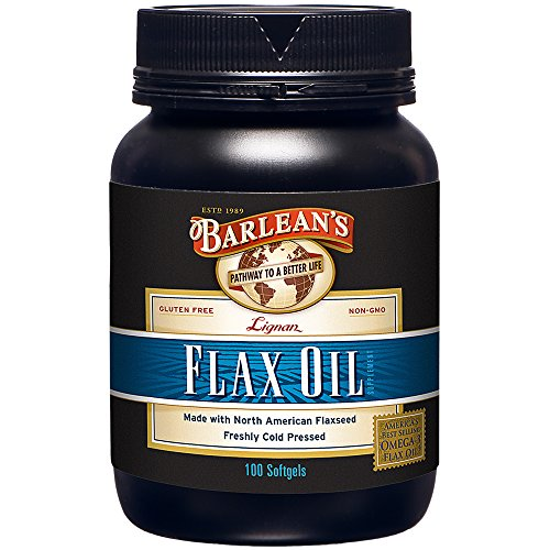 Barlean's Lignan Flax Oil Softgels, 100 Count Bottle from Barlean's Organic Oils