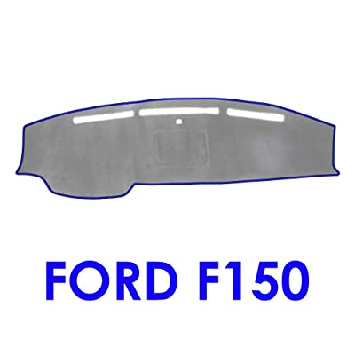 JIAKANUO Auto Car Dashboard Carpet Dash Board Cover Mat Fit for Ford F150 2009 2010 2011 2012 2013 2014 (Gray-Blue MR-005): Automotive