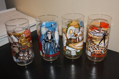 Star wars burger king glasses set