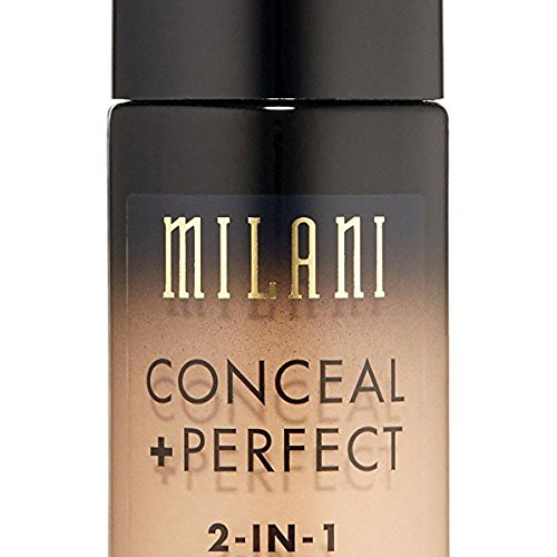 Milani Conceal + Perfect 2-in-1 Foundation + Concealer - Medium Beige (1 Fl. Oz.) Cruelty-Free Liquid Foundation - Cover Under-Eye Circles, Blemishes & Skin Discoloration for a Flawless Complexion (Medium Beige Foundation)