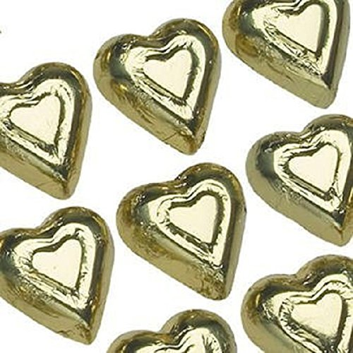 Madelaine Chocolate Mini Gold Hearts Solid Milk Chocolate - 1 Lb