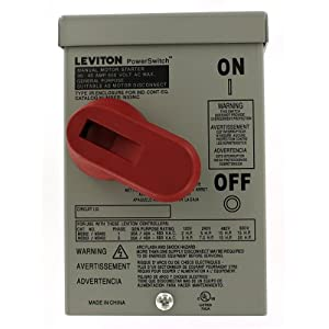 Leviton N33NC-DS Type 3R Enclosure (for use with 30 Amp or 40 Amp Motor Starter Switches), Steel, Gray