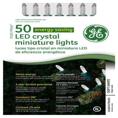 GE 50 Count Led Crystal Miniature String Lights