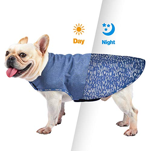 PROPLUMS Reflective Dog Winter Jacket, Windproof Waterproof Dog Sweater for Cold Weather with Reflective Strips Best Gift for Small Medium Dogs (XL)
