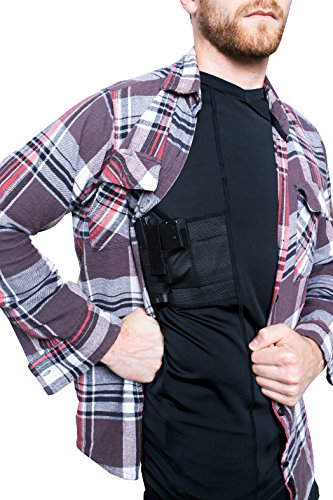 (GrayStone Tactical Concealed Carry Men's Gun Holster Shirt V Neck - Concealment Compression Shirt CCW Clothing Black XX-Large )