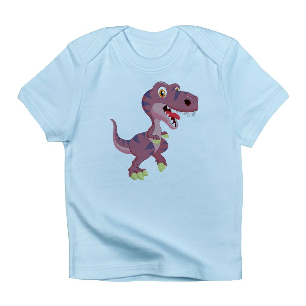Truly Teague Toddler T-Shirt Cute Group of Dinosaurs-Baby Blue