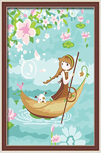 Colour Talk Diy oil painting, paint by number kits for kids - Roam 20X30cm.