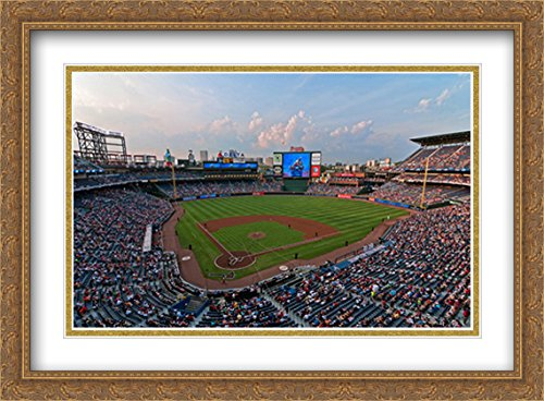 - Turner Field 2X Matted 38x28 Large Gold Ornate Framed Art Print from The Stadium Series
