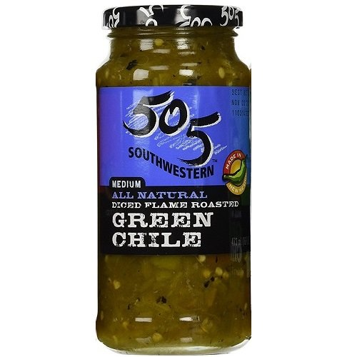 - 505 Southwestern 16oz Jar (Select Flavor Below) (Diced Flame Roasted Green Chile - Medium) (3-Pack)