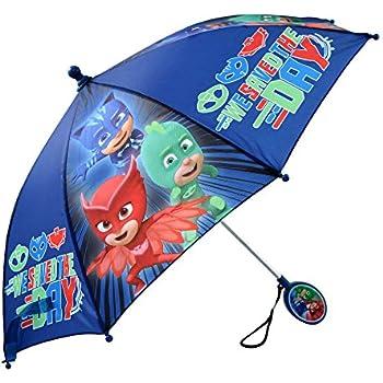 Disney Little Boys PJ Masks Assorted Character Rainwear Umbrella, Blue, Age 3-7
