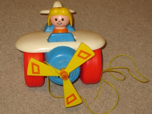 Fisher Price #171 Vintage 1980 Airplane Pull Toy ()