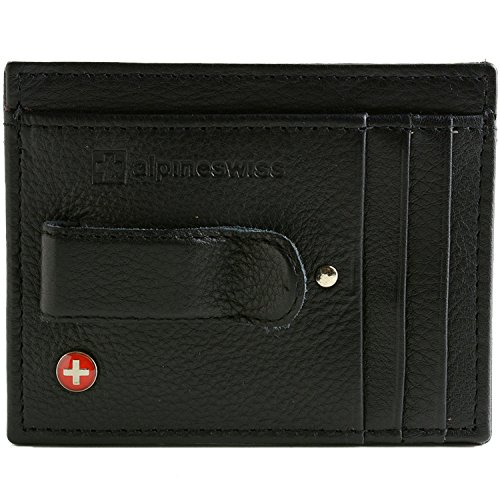 Alpine Swiss Leather Front Pocket Wallet