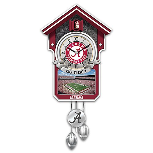 University Of Alabama Crimson Tide Wall-Hanging Cuckoo Clock: 1 Of 10,000 by The Bradford Exchange