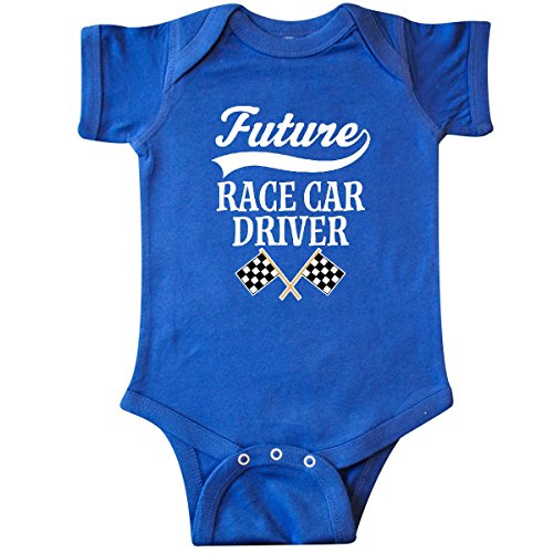 Royal Blue Car Flag - inktastic - Future Race Car Driver Infant Creeper 18 Months Royal Blue 2bf79