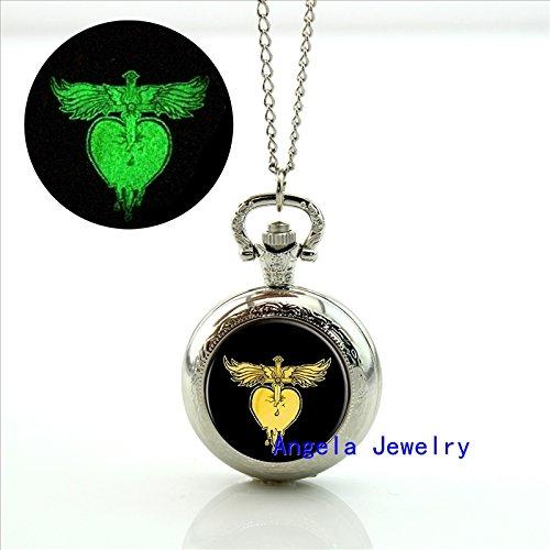 Pretty Lee Fashion Bon Jovi Glowing Pocket Watch