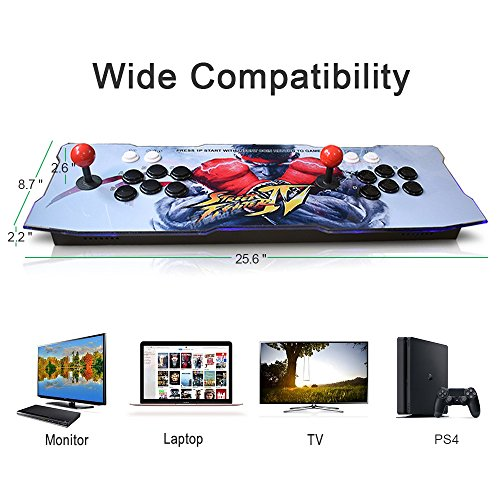 ElementDigital Arcade Game Console 1080P 3D & 2D Games 2260 in 1 Pandora's Box 70 3D Games 2 Players Arcade Machine Arcade Joystick Support Expand 6000+ Games by ElementDigital (Image #3)