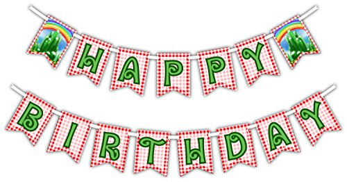 The Wonderful Wizard of Oz Happy Birthday Party Banner Decoration (Includes 23ft Ribbon)
