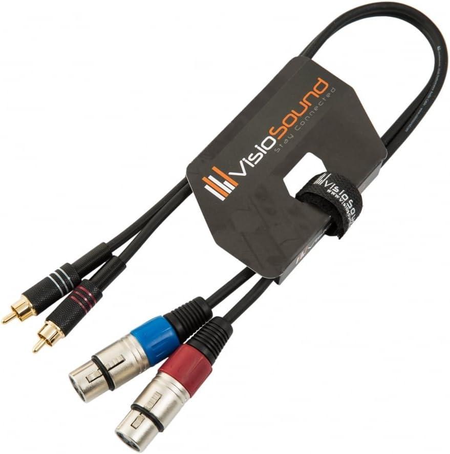 C/âble double 2 x XLR m/âle /à 2 x RCA phono dor/ée//C/âble patch signal audio 5m