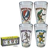 Grateful Dead Retro Pint Glasses ~ Classics Logos