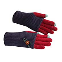 Lovely Knitted Woolen Gloves/Touch Screen Gloves/Great Gift for Lovers/ BLUE