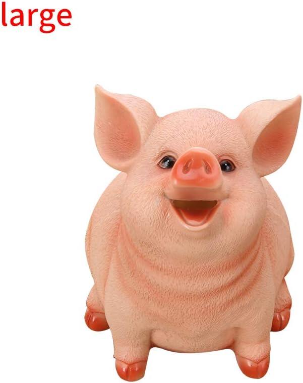 cadeau danniversaire pour la maison cochon de dessin anim/é en forme de tirelires Konesky Pig Piggy Bank bo/îte de rangement de pi/èces de monnaie L pour enfants
