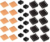 heat sink computer - Easycargo 30 pcs Raspberry Pi Heatsink Kit Aluminum + Copper + 3M 8810 thermal conductive adhesive tape for cooling cooler Raspberry Pi 3 B+, Pi 3 B, Pi 2, Pi Model B+ (30 pcs)