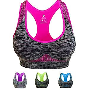 Vermilion Bird Women's Seamless Sports Bra High Impact Pocket Yoga Bras
