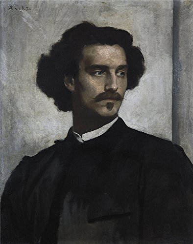 Oil Painting 'Anselm Feuerbach Self Portrait ' Printing On Perfect Effect Canvas , 20 X 25 Inch / 51 X 65 Cm ,the Best Home Theater Gallery Art And Home (Halloween Story 7th Grade)