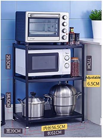 WSCC Grille de Four à Micro-Ondes Cuisine Organisateur avec étagères, Noir Laqué Micro-Ondes Plateau (Taille : 110cm×71cm×39cm)