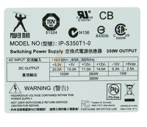IP-S350T1-0 ATX12V Power Supply by IN-WIN Development (Image #3)