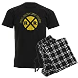 CafePress Still Plays with Trains Unisex Novelty Cotton Pajama Set, Comfortable PJ Sleepwear